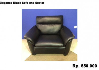 Elegance Black Sofa one Seater