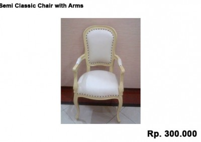 Semi Classic Chair with Arms