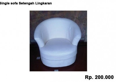 Single sofa Setengah Lingkaran