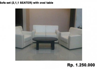 Sofa set (2,1,1 SEATER) with oval table