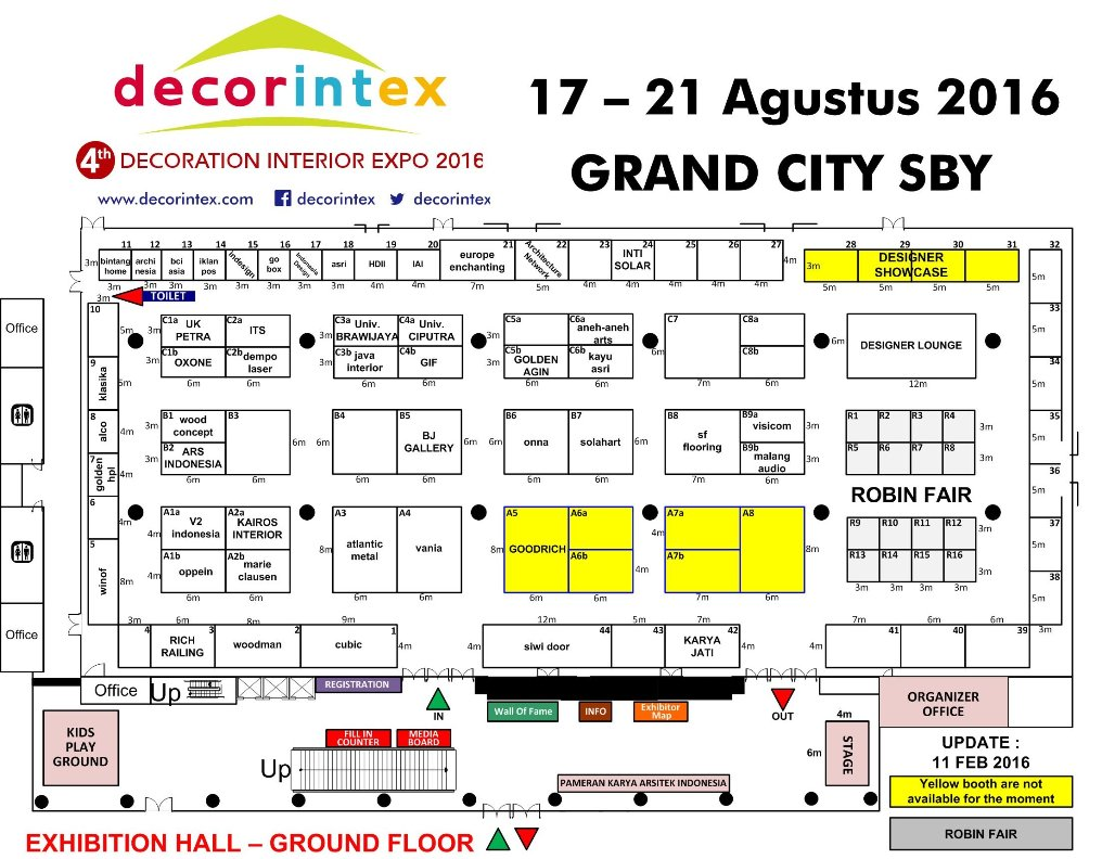 Layout Booth Decorintex 2016 (source: decorintex.com)